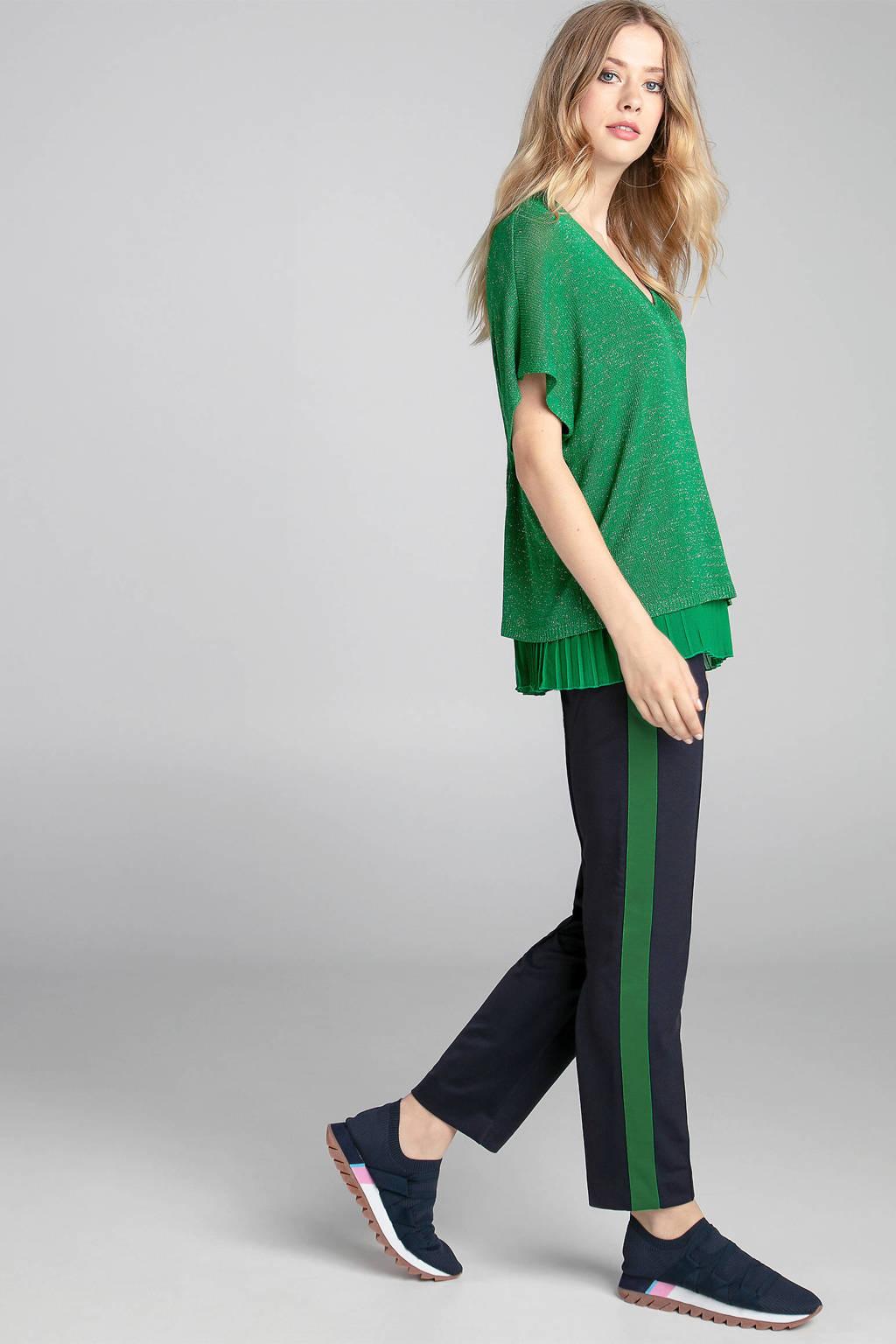 Claudia Sträter fijngebreide trui groen, Groen