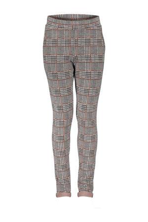 geruite straight fit broek zwart/bruin