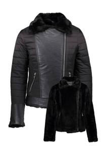 Geisha reversible winterjas zwart, Zwart