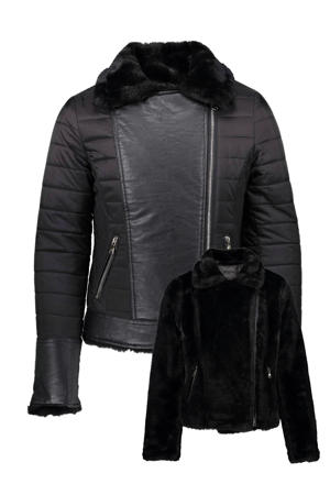 reversible winterjas zwart
