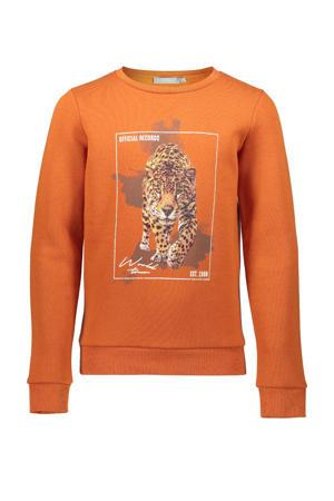 sweater met printopdruk brique