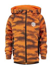 Vingino Daley Blind vest Omari met all over print oranje/antraciet, Oranje/antraciet