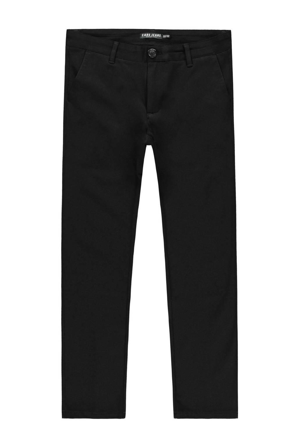 Cars slim fit broek Palo zwart, Zwart
