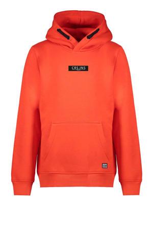 hoodie Pearser met logo oranje