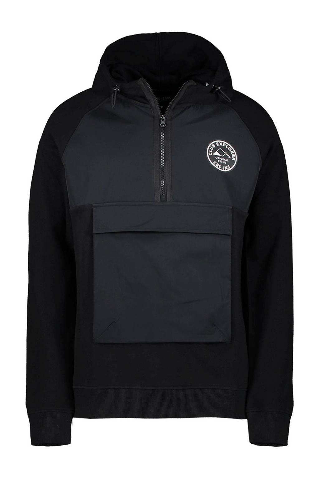 Cars hoodie Mercers met printopdruk zwart, Zwart