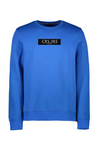 Cars sweater Hemser met tekst kobaltblauw, Kobaltblauw