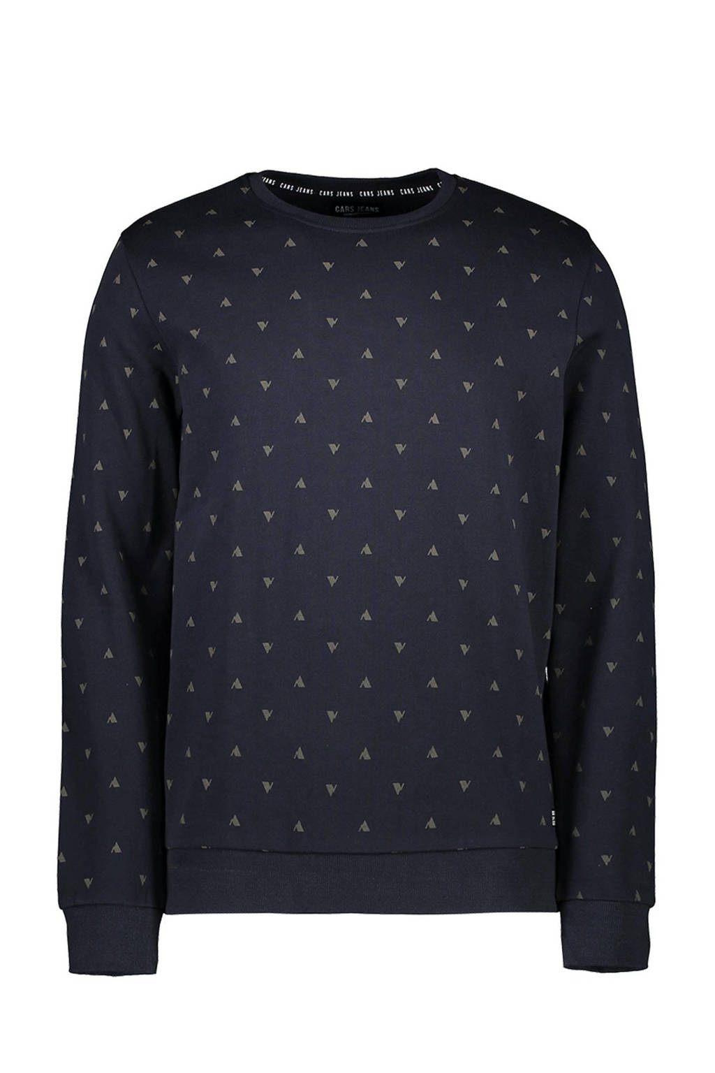 Cars sweater Gryss met all over print antraciet, Antraciet