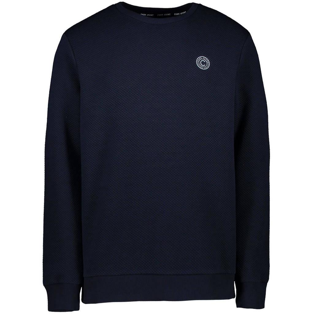 Cars sweater Bosck met logo en textuur marine, Marine