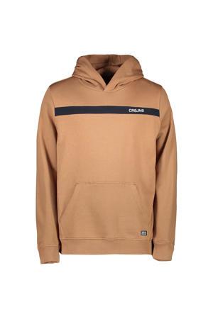 hoodie Quince met logo kaki bruin