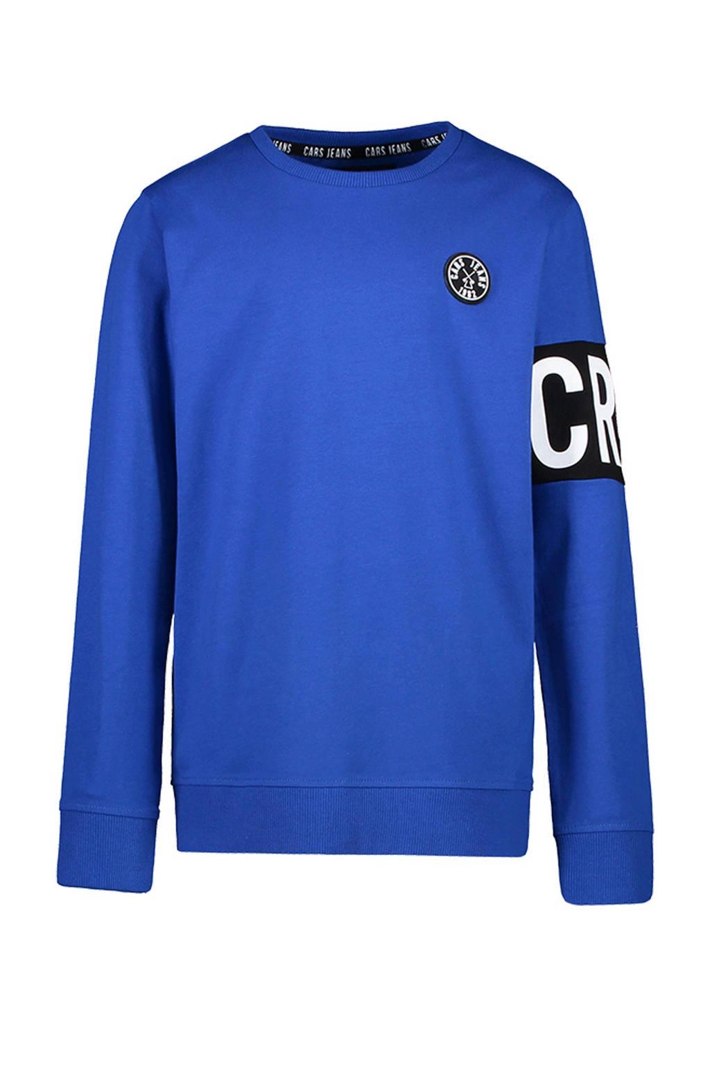 Cars sweater Obby met logo kobaltblauw, Kobaltblauw