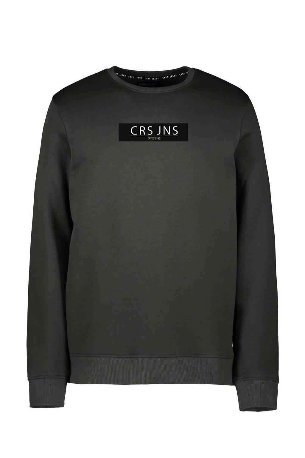 Cars sweater Hemser met tekst donkergroen, Donkergroen