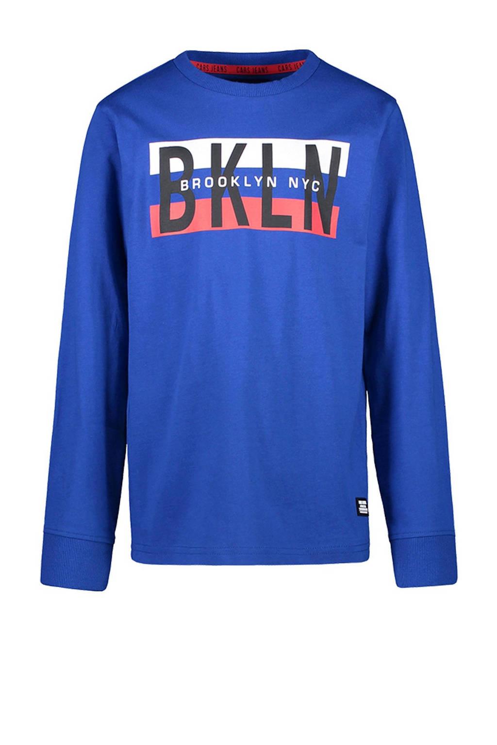 Cars sweater Christopery met tekst kobaltblauw, Kobaltblauw