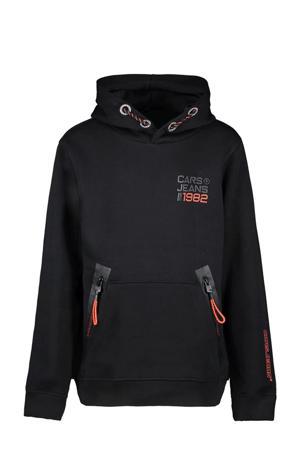 hoodie Wicks met logo zwart