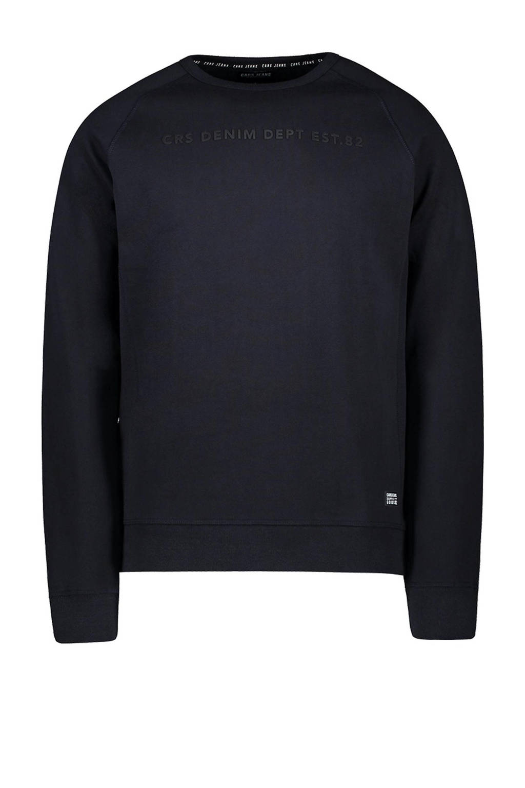 Cars sweater Creased met tekst antraciet, Antraciet