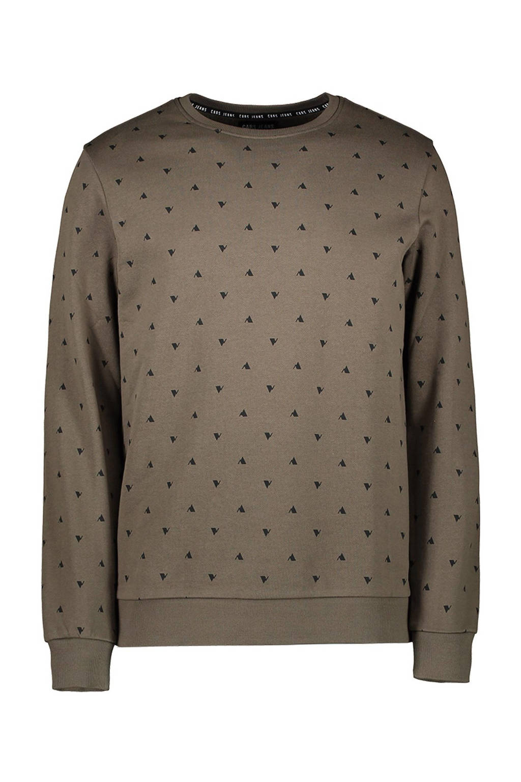 Cars sweater Gryss met all over print army groen, Army groen