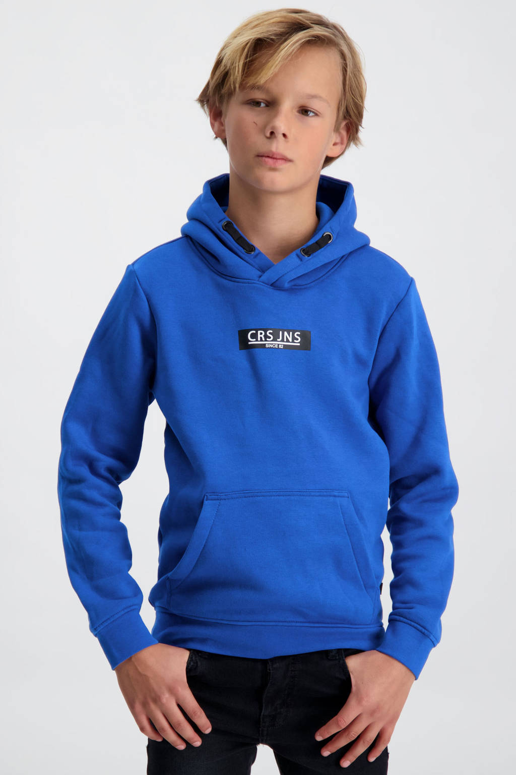 Cars hoodie Pearser met logo kobaltblauw, Kobaltblauw