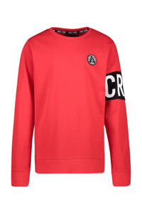 Cars sweater Obby met logo rood, Rood
