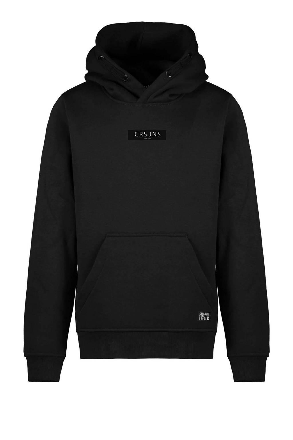 Cars hoodie Pearser met logo zwart, Zwart