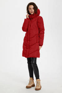 Soaked In Luxury gewatteerde jas Mala rood, Rood