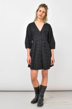 jurk Danielle met plooien zwart