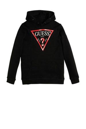 hoodie Hooded fleece core met logo zwart