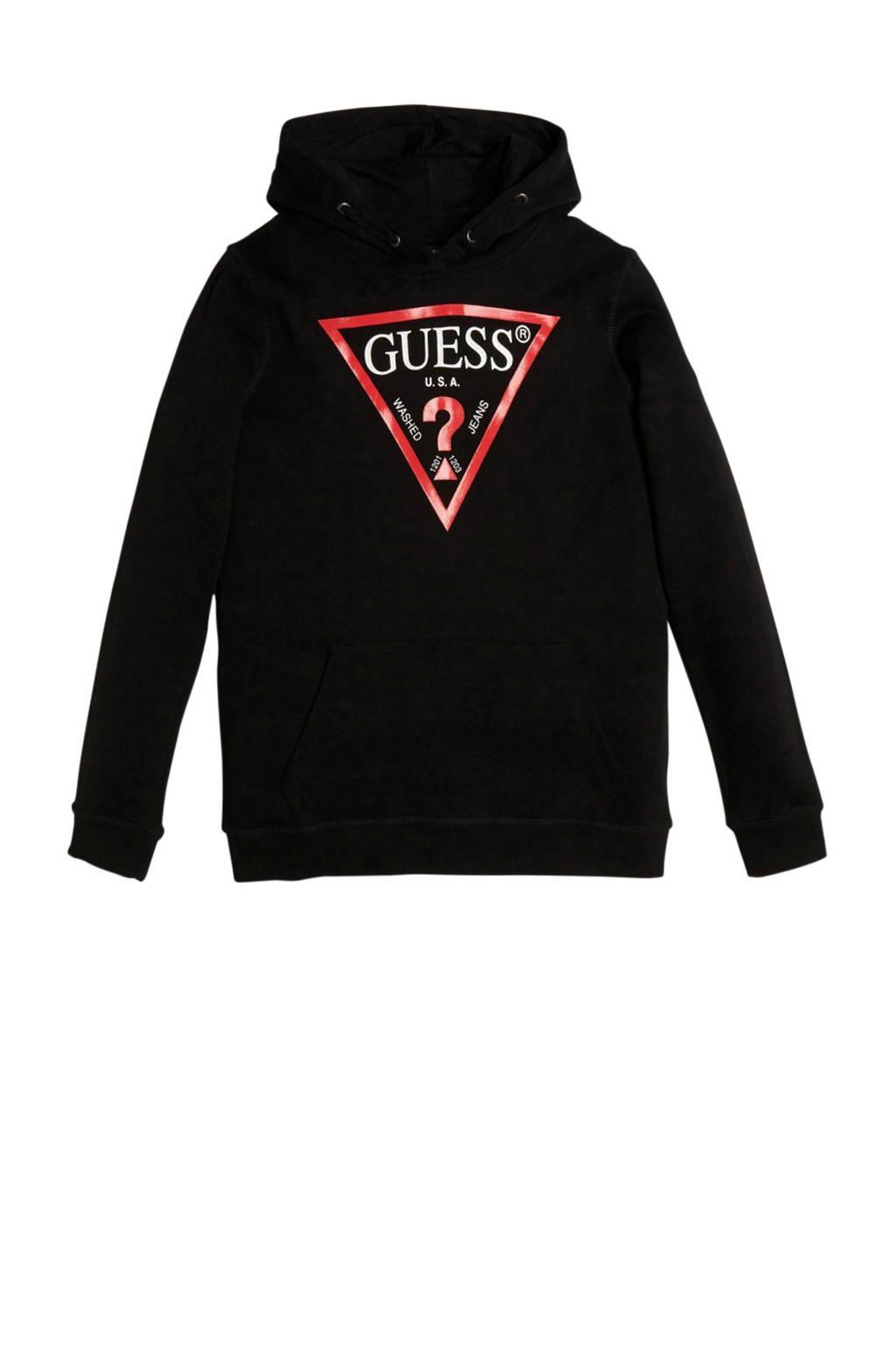GUESS hoodie met logo zwart, Zwart