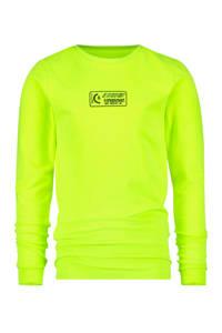 Vingino longsleeve Jiro met logo neon geel, Neon geel
