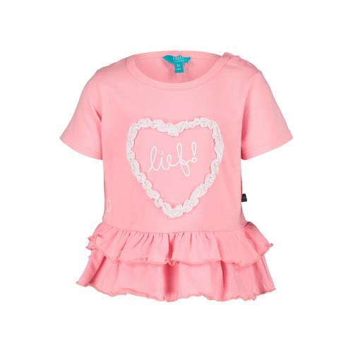 lief! regular fit T-shirt met printopdruk roze