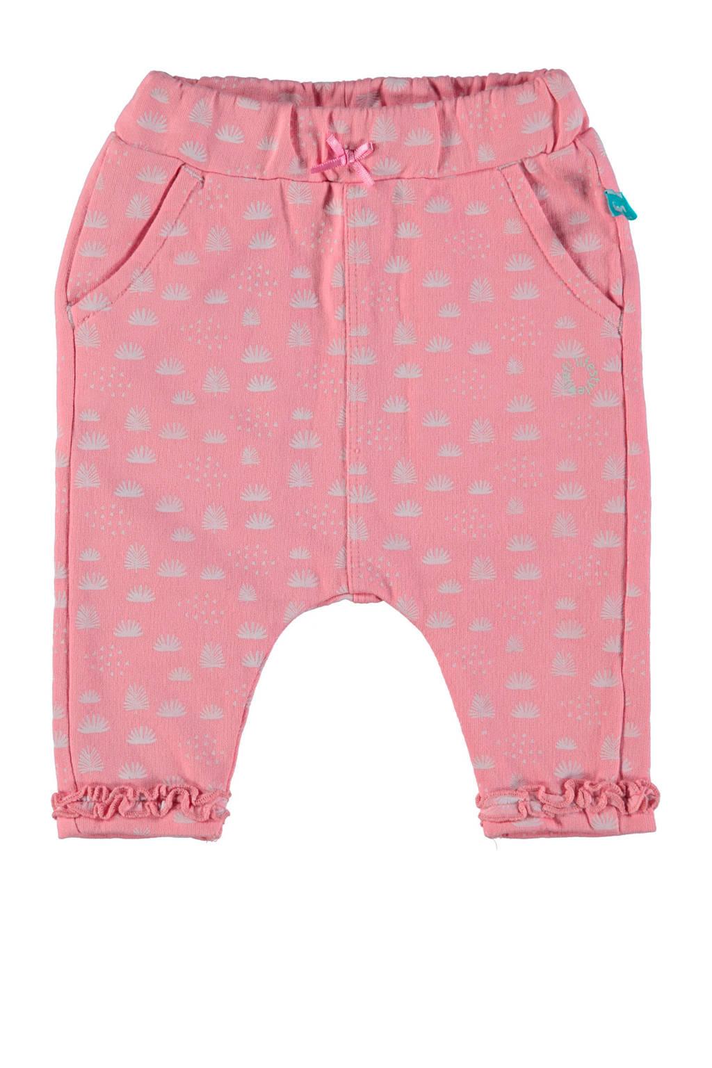 lief! baby regular fit broek met all over print roze, Roze