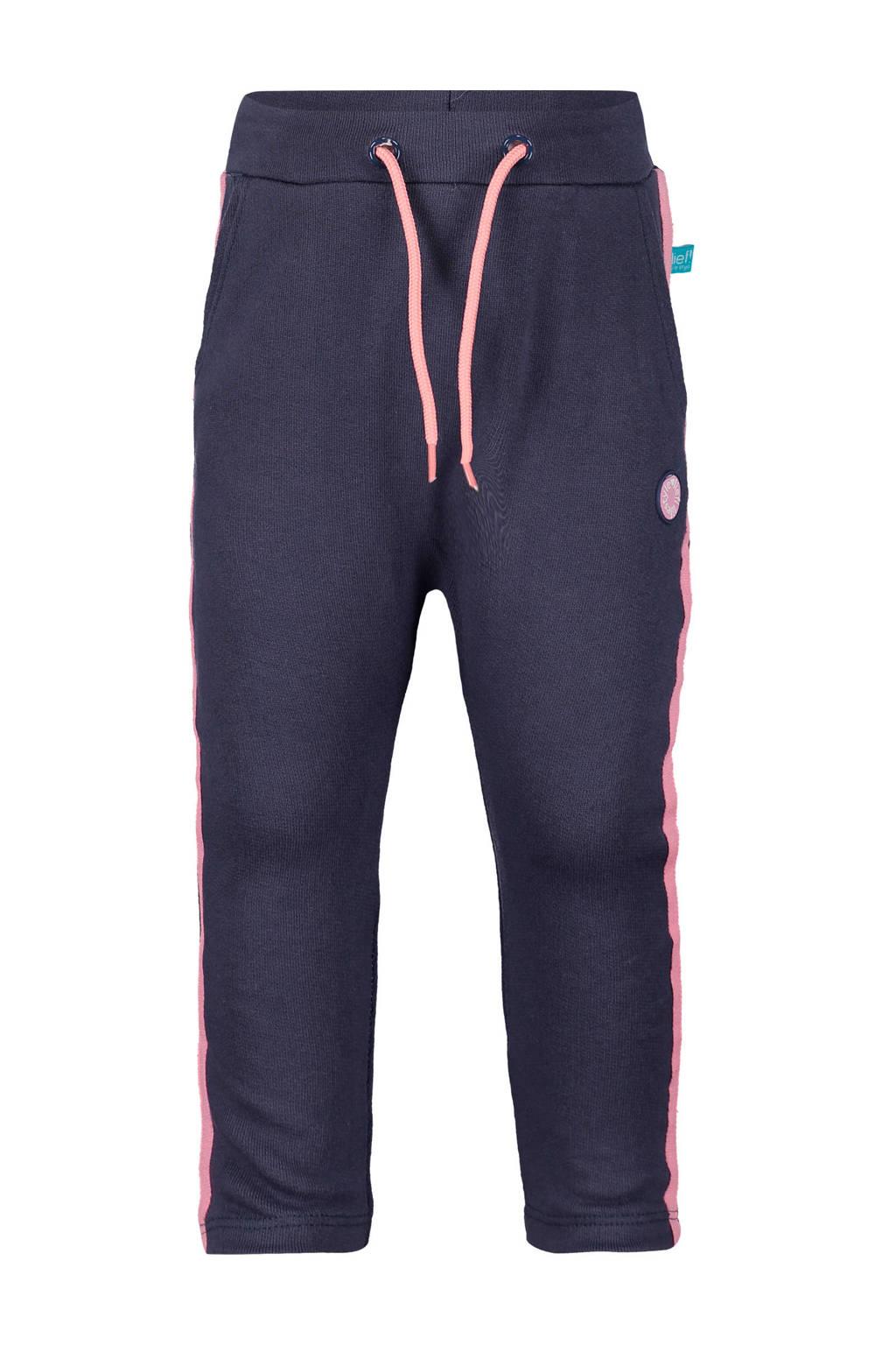lief! regular fit broek met zijstreep donkerblauw, Donkerblauw