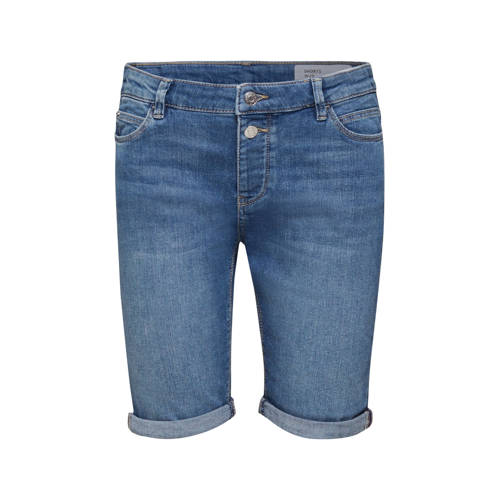 ESPRIT Women Casual skinny bermuda donkerblauw
