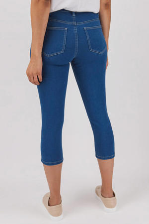 cropped skinny jeans blauw