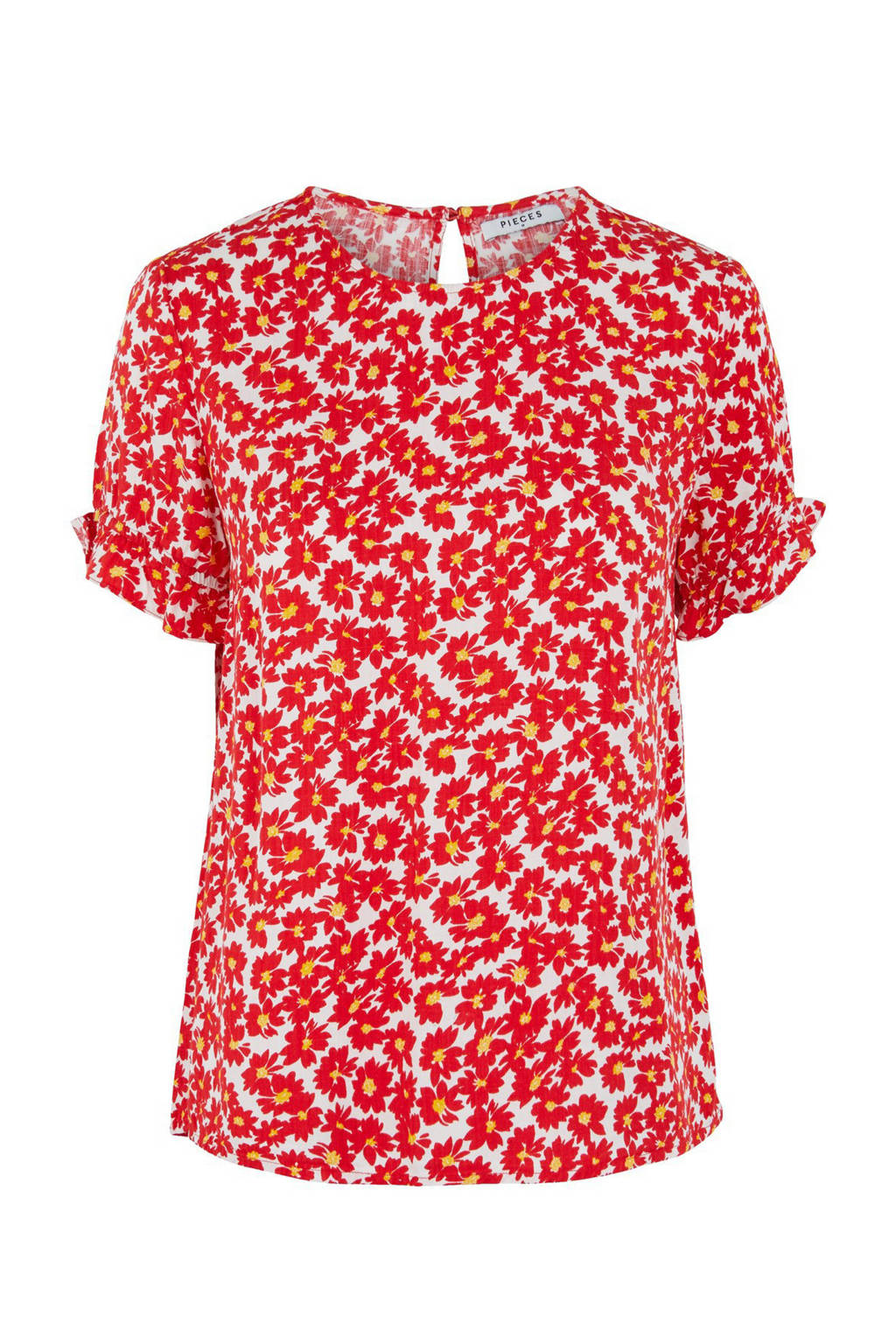 PIECES blouse met all over print rood, Rood