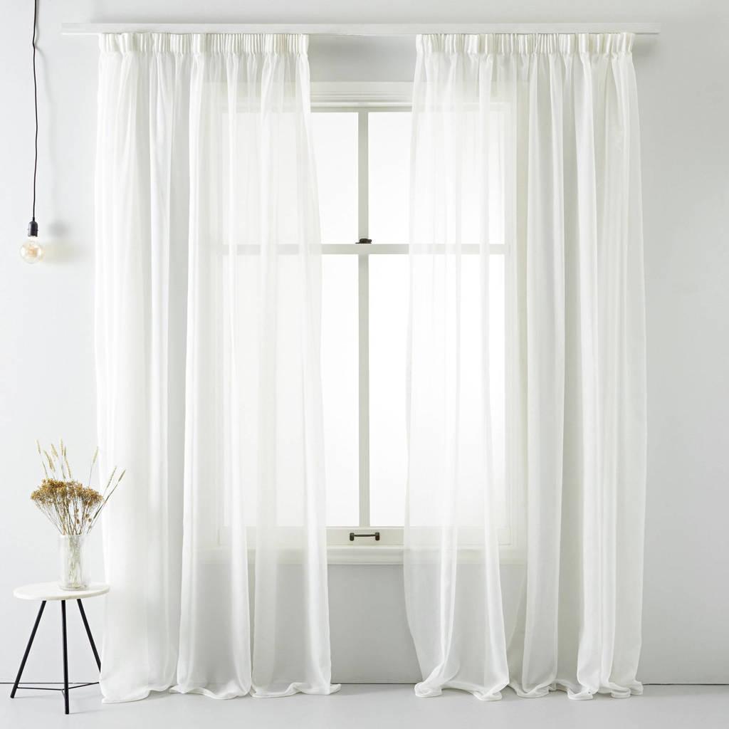 Wehkamp Home inbetween kant en klaar transparant gordijn (per stuk) (280 x 270 cm), Parel