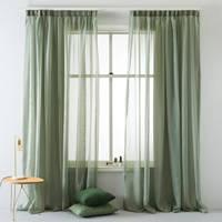 Wehkamp Home inbetween kant en klaar transparant gordijn (per stuk) (140 x 180 cm), Antique groen