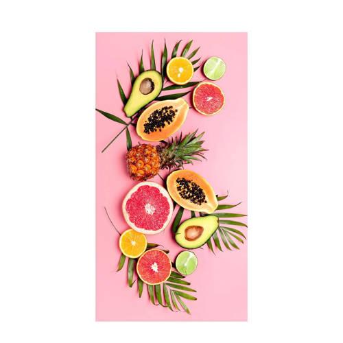 Good Morning kinderstrandlaken Pink Fruits (75x150