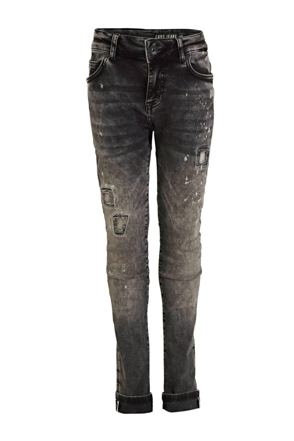 Cars skinny jeans Aron zwart, Zwart
