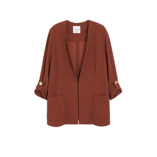 Violeta by Mango blazer en textuur bruin