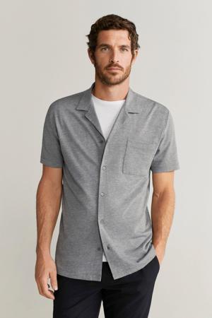 slim fit overhemd grijs