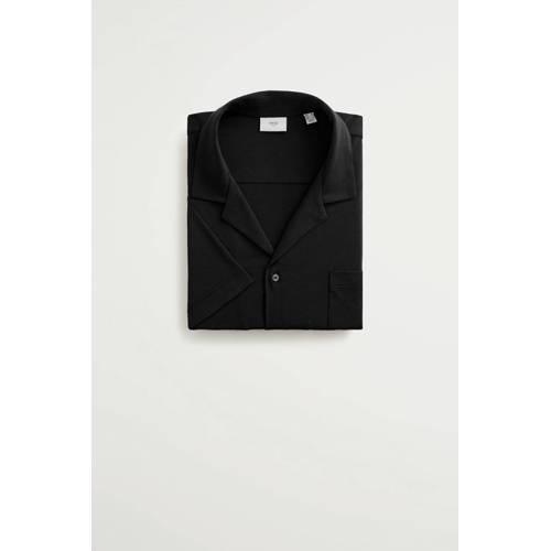 Mango Man regular fit overhemd zwart