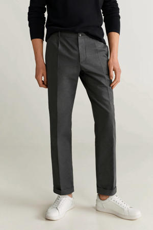 slim fit chino antraciet
