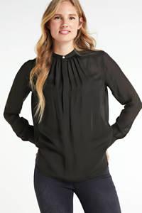 POLO Ralph Lauren top Ida met zijde polo black, Polo Black