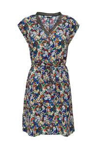 ONLY jurk met all over print en glitters donkerblauw/multi, Donkerblauw/multi