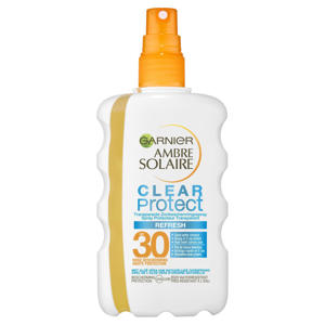 Ambre Solaire Clear Protect Refresh Transparante zonnebrand SPF30 - 200 ml