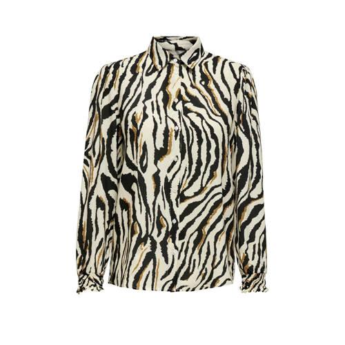 ONLY blouse met zebraprint beige/bruin/zwart