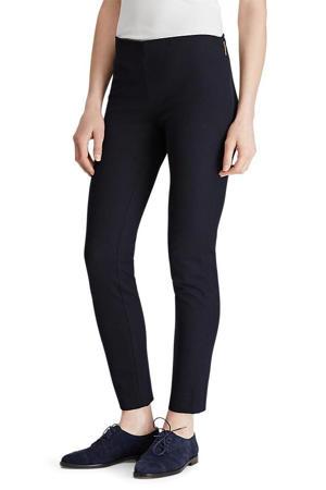 high waist slim fit broek Keslina donkerblauw