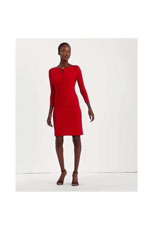 jurk Carlonda met open detail rood