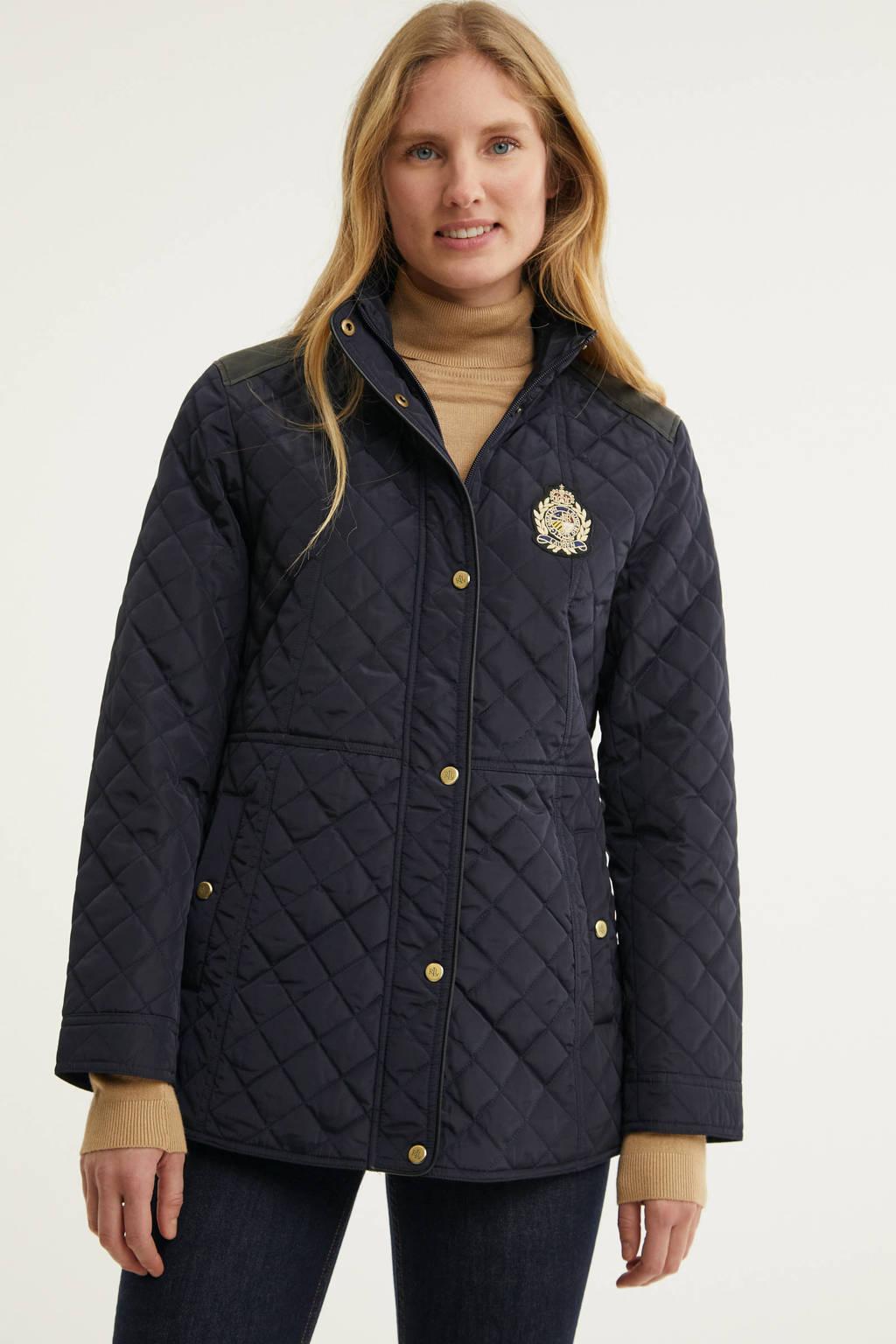 Lauren Ralph Lauren gewatteerde jas zwart, Marine