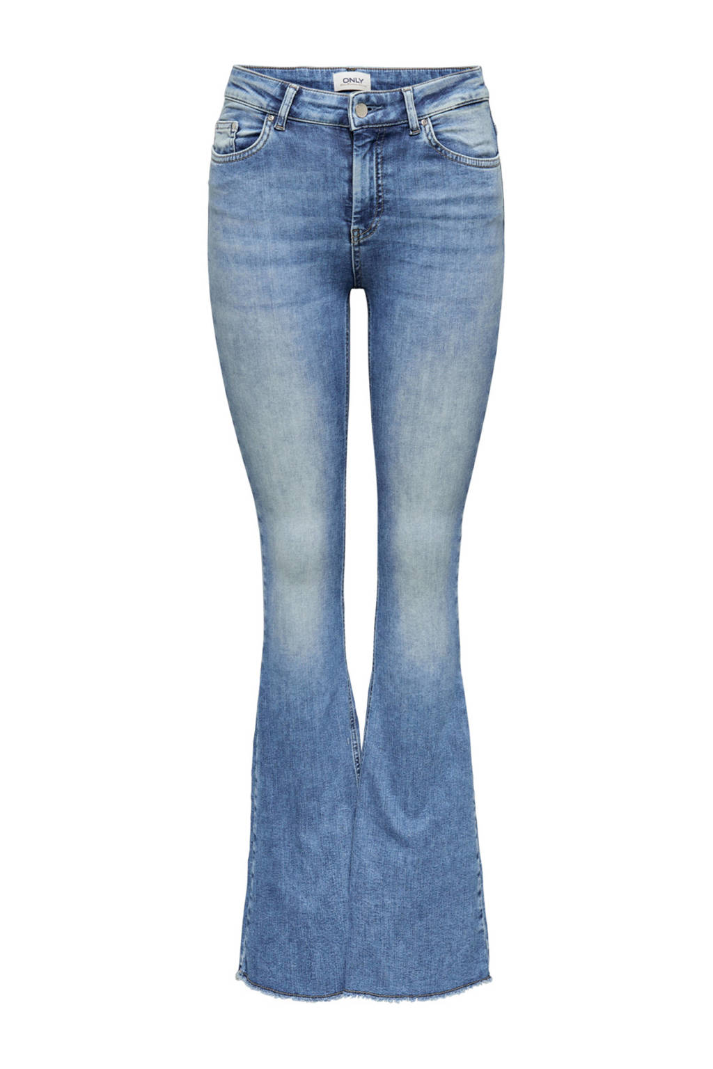 ONLY high waist flared jeans medium blue denim, Medium blue denim