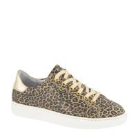 Graceland   leren sneakers panterprint/goud, Bruin/goud